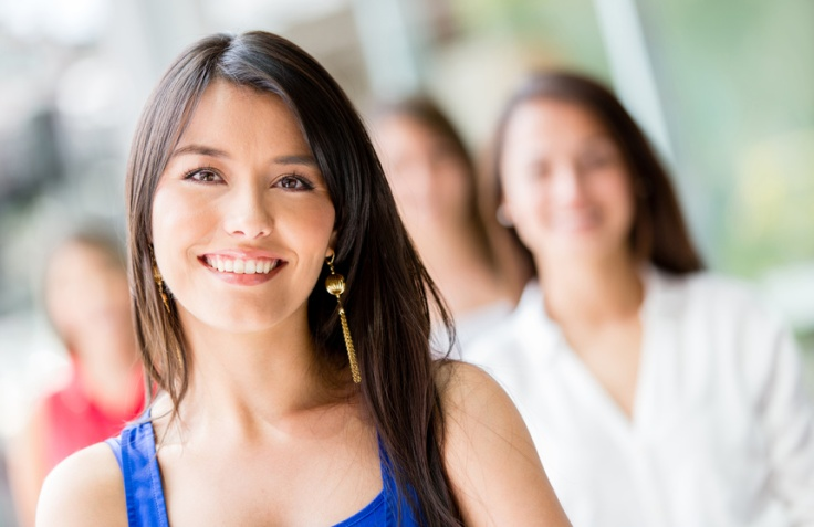 Latin woman smiling