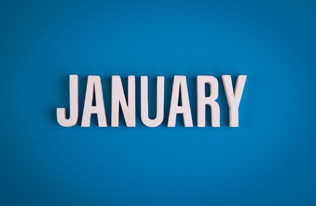January sign lettering